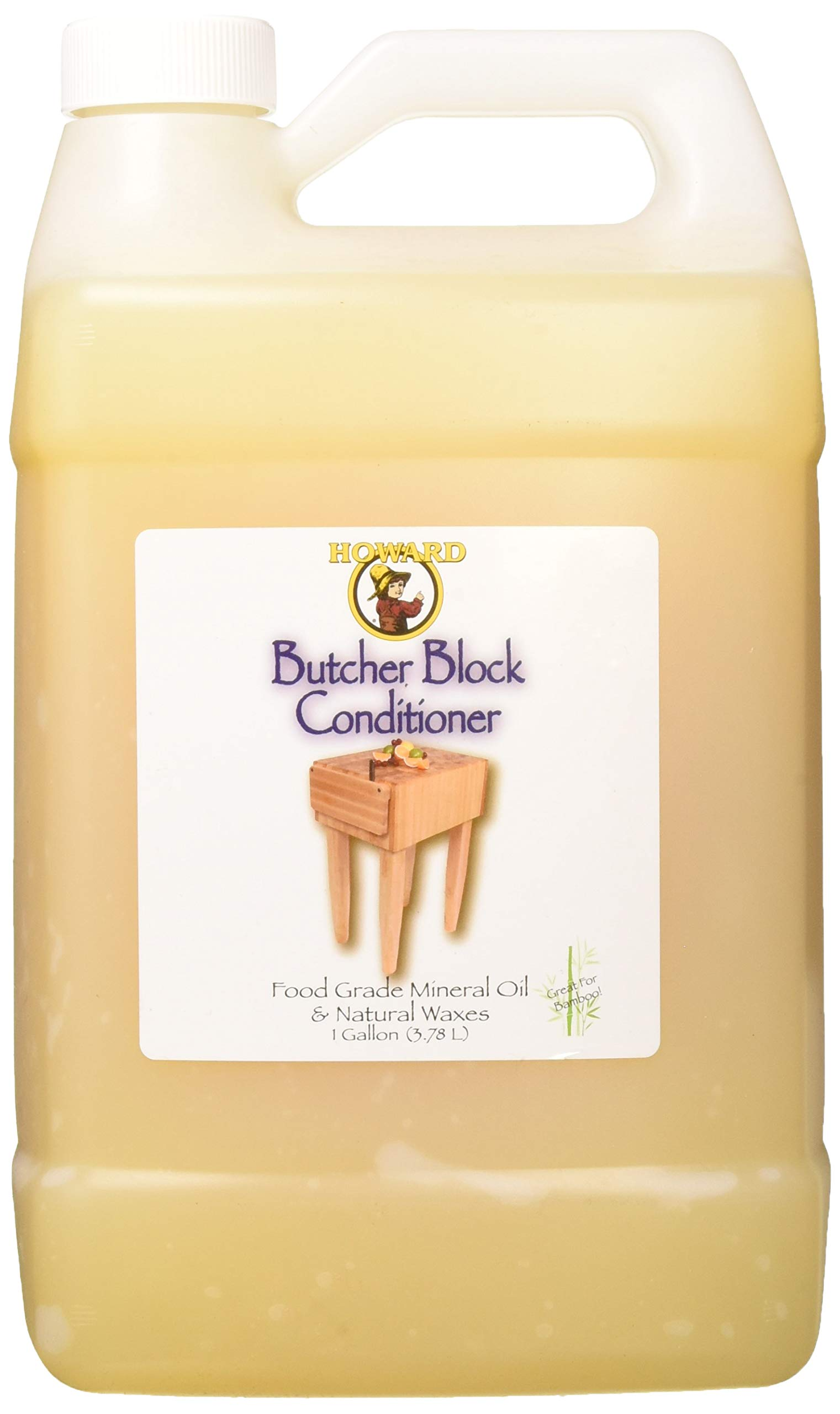 Howard Products BBC128 Butcher Block Conditioner, 128 oz, Clear by Howard Products