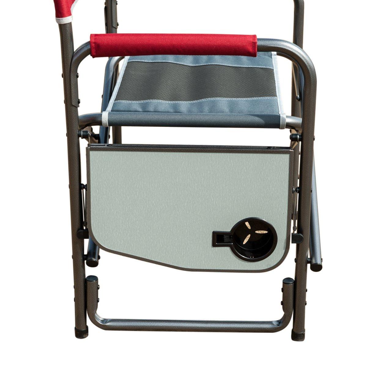 timber-rダイレクタ椅子折りたたみポータブルキャンプwith Sideテーブルサポート300lbsアウトドア  レッド B07B8HDXNV