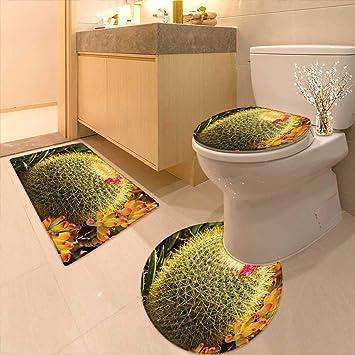 Amazon.com: Cojín de inodoro tipo cactus patrón de plantas ...