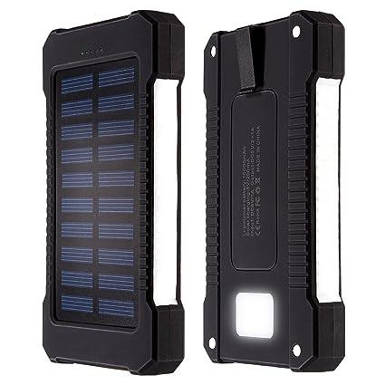 X-Dr Solar Charger, 10000mAh Portable Dual USB Solar Battery ...