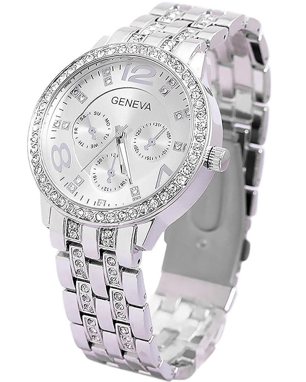 Geneva Platinum Cosmic Analogue Silver Dial Women's Watch-Kflkdnk-132