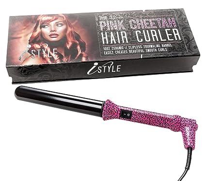 iStyle – Rizador de pelo de cerámica varita rizador de cabello 32 mm – Ideal para