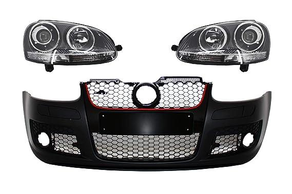 Kitt COFBVWG5GTIWFCRHD defensa delantera con faros delanteros RHD R32 GTI diseño: Amazon.es: Coche y moto