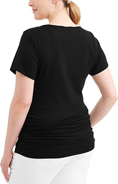 Rumor Has It Ruched Maternity V-Neck T-Shirt