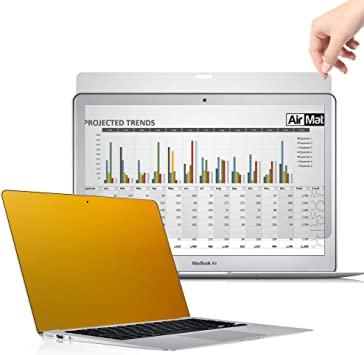 Apple Model A1708 // A1706 13 Inch MacBook Pro Touch Bar Privacy Filter MacProT 13 - Gold Anti Glare//Blue Light Protector Film for Data confidentiality