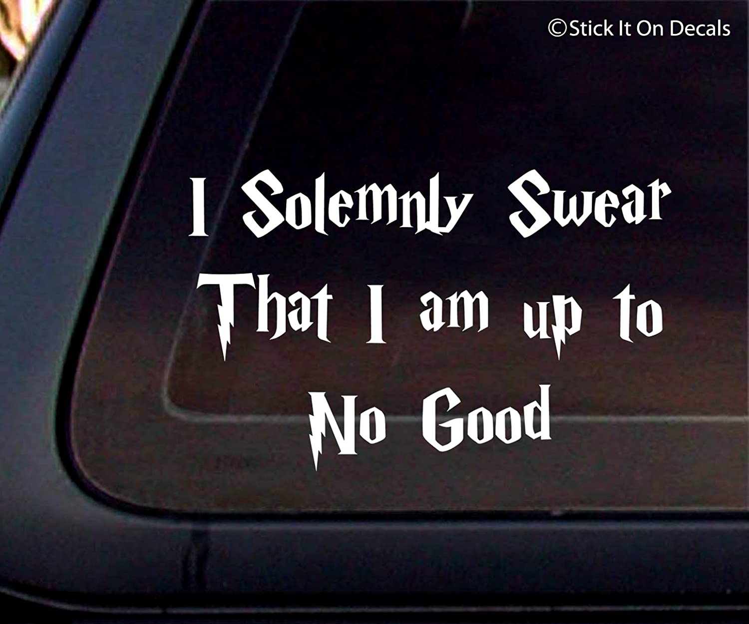 Amazon com harry potter i solemnly swear that i am up to no good car decal sticker automotive