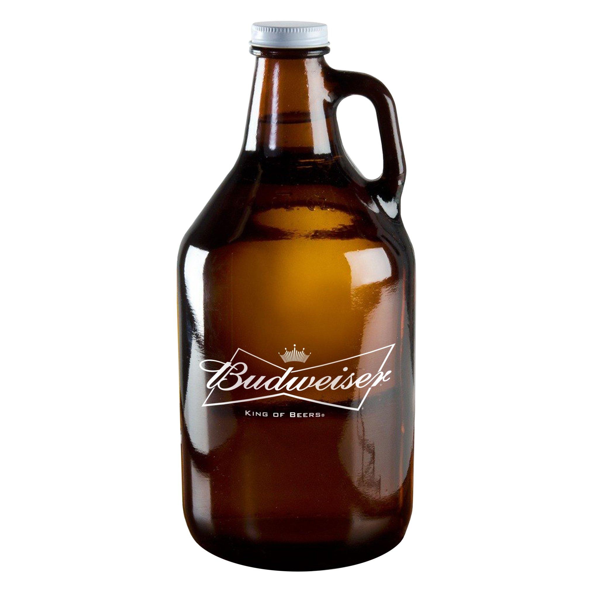 Boelter Brands Budweiser Amber Growler, 64-ounce