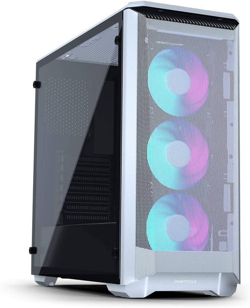 Phanteks Eclipse P400A Digital ATX Mid-Tower (PH-EC400ATG_DWT01), Mesh Front Panel, Tempered Glass, Digital-RGB, White