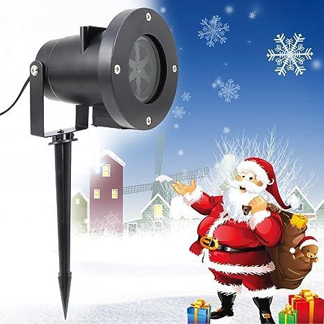 Faro Proiettore Luci Natalizie.Livho Proiettore Luci Natale Led 4w Proiezione Dinamica