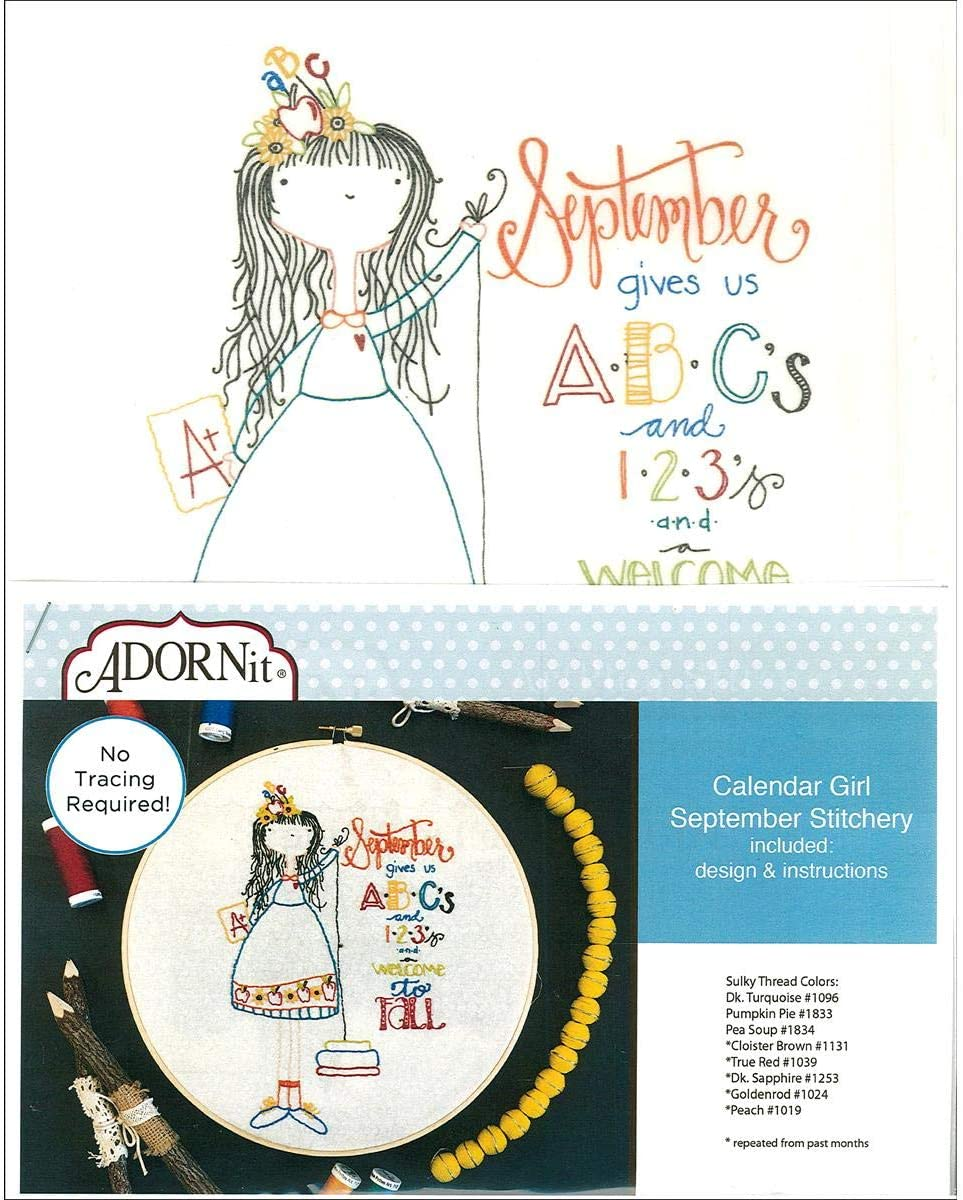 ADORNit 48120 Fabric MS Calender Girls Sep Crafts Supplies