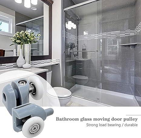 cococity 8 piezas de rodillos para puerta de ducha/corredores/ruedas/poleas/guías de 23 mm de diámetro, piezas de repuesto para raíles de mampara de ducha: Amazon.es: Bricolaje y herramientas