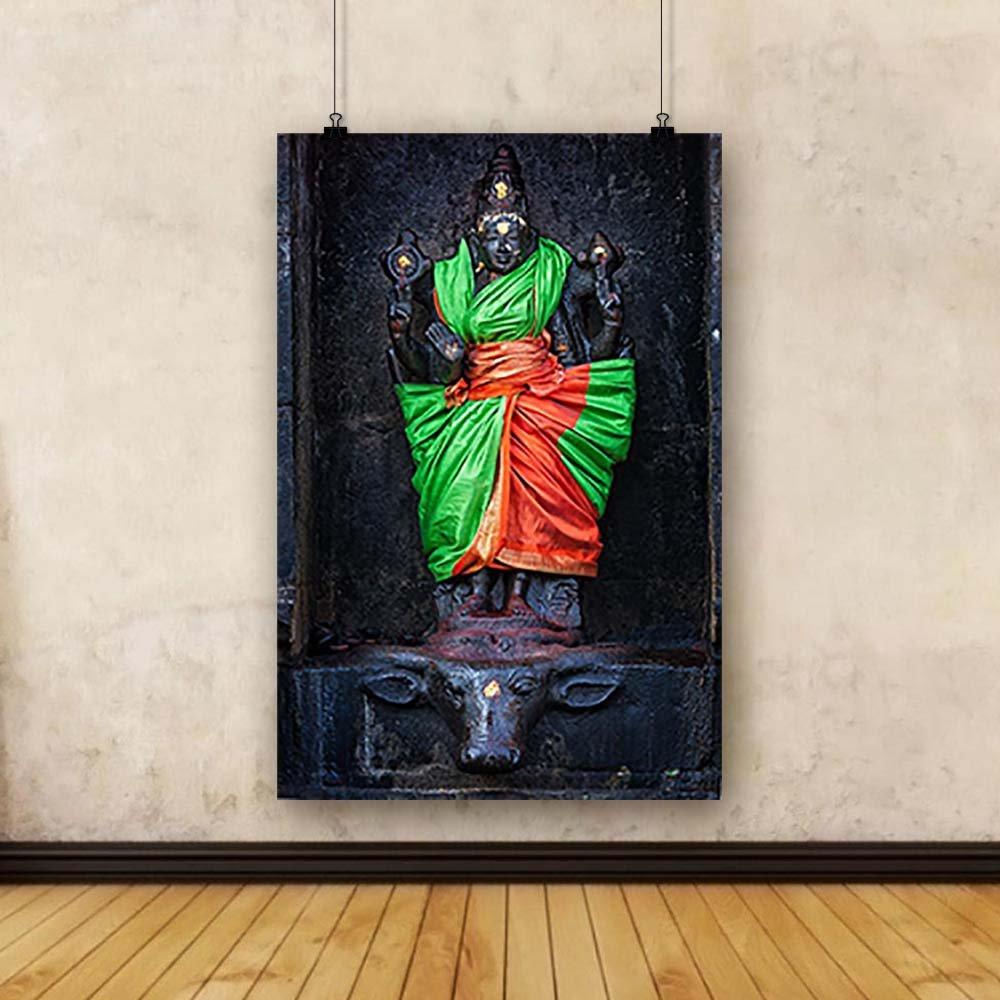 Pitaara Box PB Goddess Durga Temple Darasuram, Tamil Nadu India Unframed Canvas Painting 16 x 24inch by Pitaara Box (Image #3)
