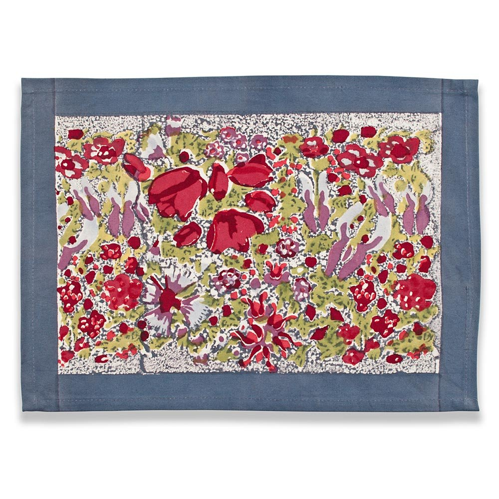Couleur Nature Jardine Mats, 15-inches by 18-inches, Red/Grey