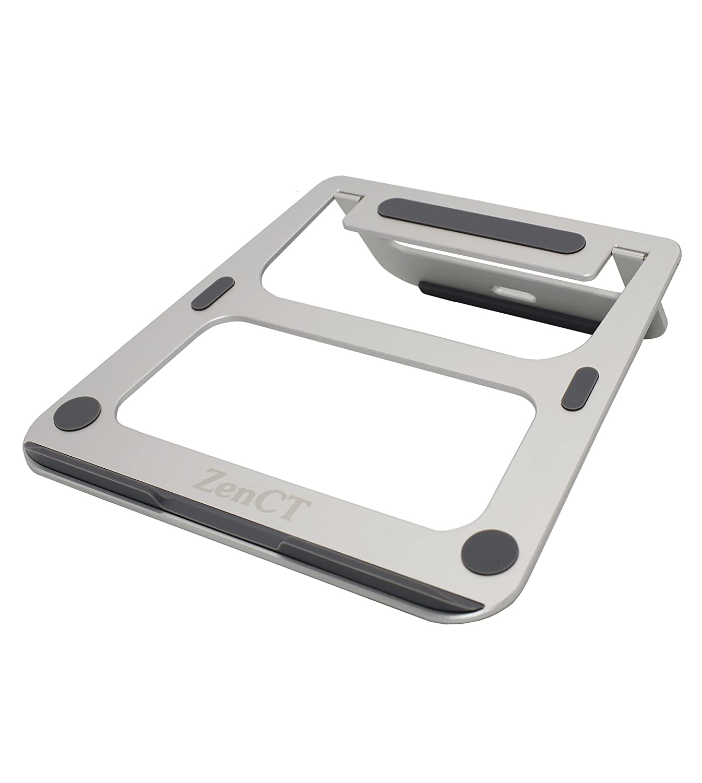 """ZenCT Supporto per laptop, Alluminio Laptop Stand per Apple Macbook HP Dell Lenovo e Notebook 11""""- 14"""", colore: argento CT-019"""