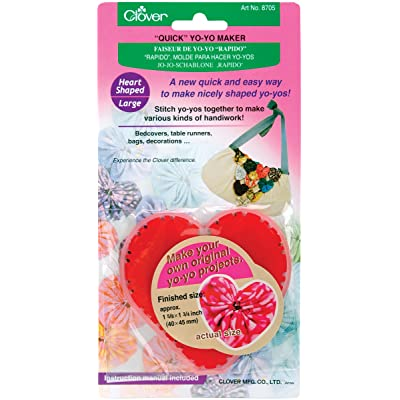 CLOVER Heart Large Yo-Yo Maker: Arts, Crafts & Sewing