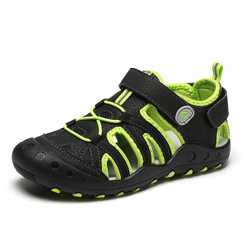 BAOLESEM Geschlossene Sportliche Sandalen F/ür Jungen M/ädchen Kinder Atmungsaktiv Strandschuhe Outdoor Trekking Sandalette Mit Klettverschluss
