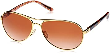 927f0886af4a68 Oakley Feedback Lunettes de Soleil Polished Gold Vr50 Brown Gradient ...