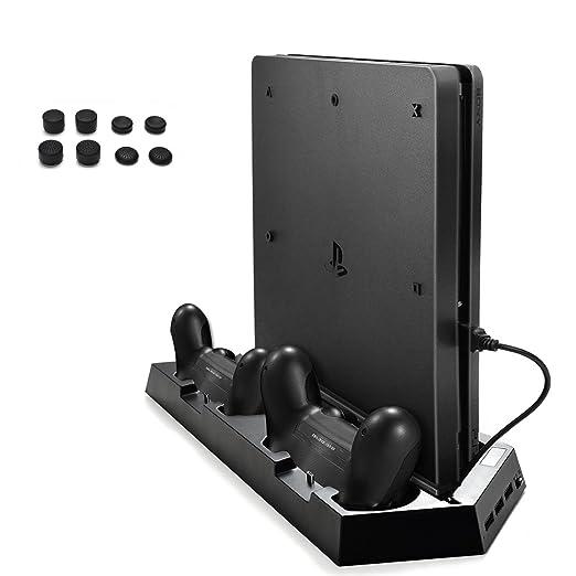 AGPtek Cargador para Mandos de PS4/PS4 Slim, Base Vertical ...