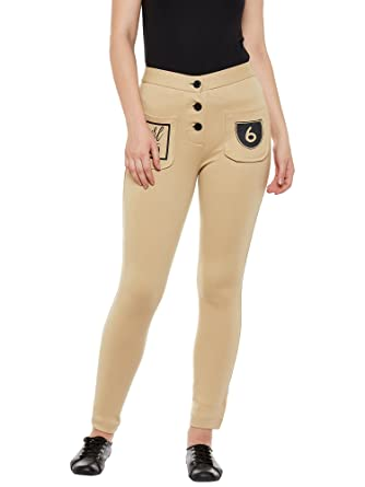 Rider Republic Women Beige Slim Fit Jeggings