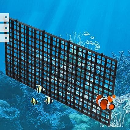 POPETPOP Fish Breeder Net Big Size Fry Tablero de Segregación con Abrazaderas para Acuario (Negro): Amazon.es: Productos para mascotas