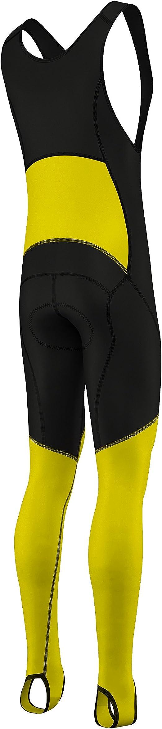 Babero de ciclismo para hombre, tejido térmico térmico Super Roubaix BibTight-Vuelta italiano, tejido elástico térmico, valor por dinero, Hombre, amarillo, S:30