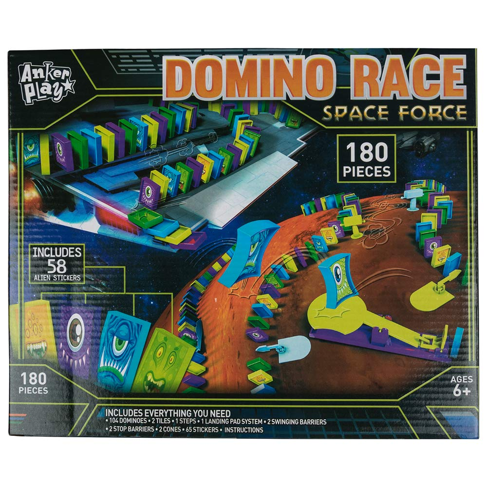 Anker Play Kids Toy Playsets - Domino Race Space Force - Sold Individually
