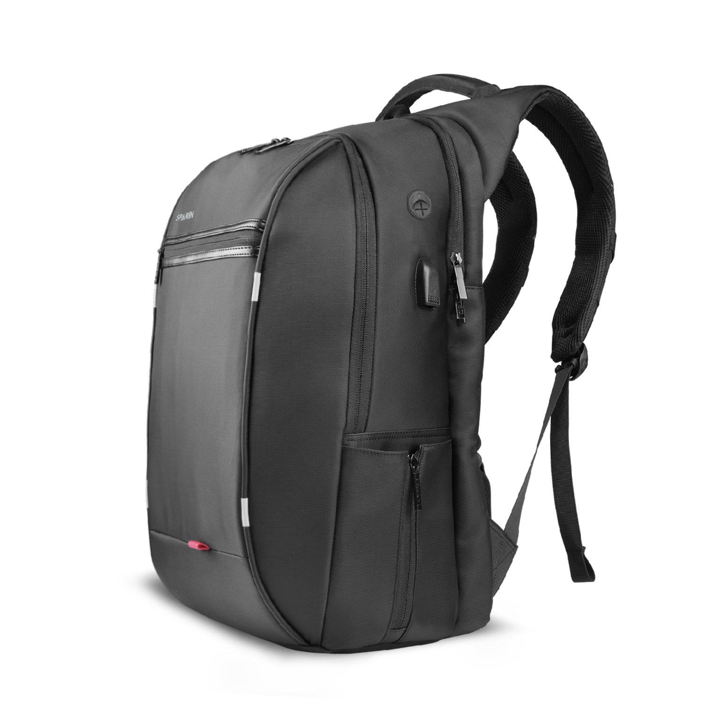 Sac à Dos, SPARIN Sacoche Ordinateur Portable 15.6 Lin Laptop Backpack [Port USB], Sac à Dos d'affaires Hommes Femmes [ Cachette Anti-vol ] [Multi-Fonctionnel] Gris