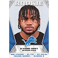 2020 Panini NFL Stickers #379 D'Andre Swift RC Rookie Detroit Lions Football Sticker Card (Mini, Thin, Peelable Sticker)