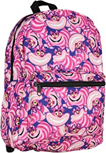 Alice In Wonderland Cheshire Cat Allover Character Pattern Bag Laptop Backpack
