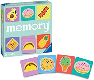 Ravensburger 20357 4 Foodie Favorites Memory Game for Boy & Girls Age 3 & Up! - A Fun & Fast Food Matching Game