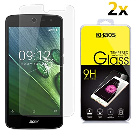2-PACK] KHAOS Acer Liquid Zest Z525 Z528 Glass Screen