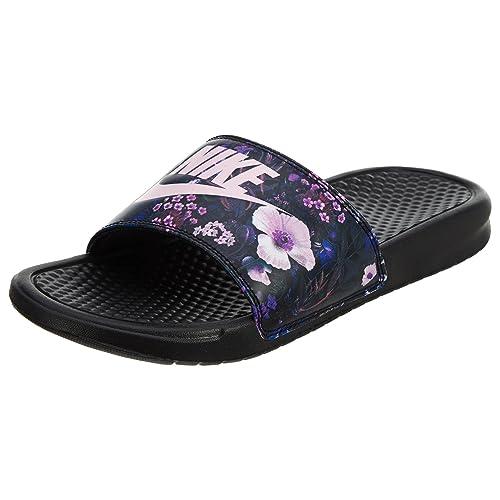 Chinelo Nike Slide Benassi Jdi Pretofloral Rosa Amazoncom