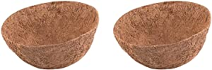 2Pcs 16 inch Round Coco Liners for Hanging Basket Coconut Fiber Planter Inserts Replacement Liner for Garden Flower Pot