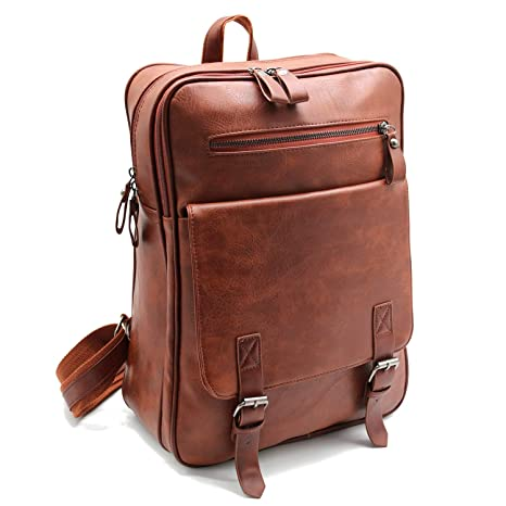 41c1b824da99 Image Unavailable. Image not available for. Color  Unisex Classic Shoulder Bag  Laptop Faux Leather Backpack