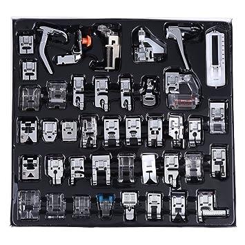 YEQIN Juego de prensatelas multifunción profesional para máquina de coser, 42 piezas, prensatelas doméstico para Brother, Babylock, Singer, Janome, ...