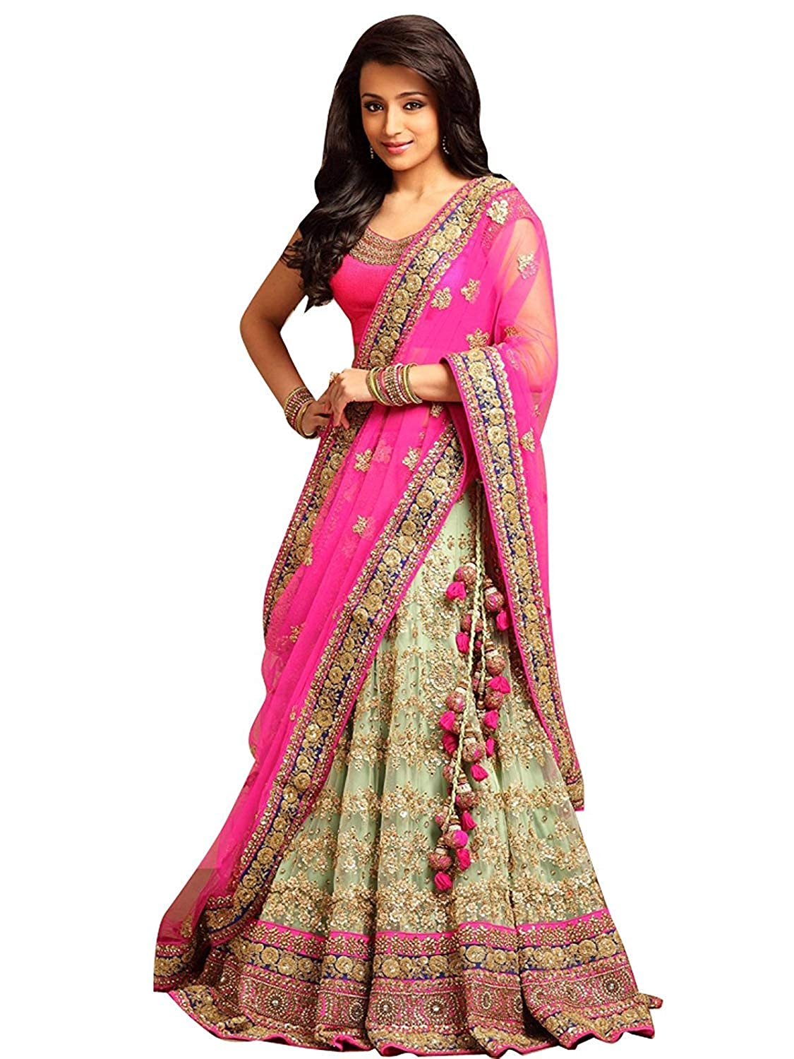 Women's Pink Color Embroidered Lehenga Choli