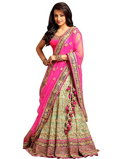 3a3bd2afad Yamuna Materials Woman's Benglori Silk Pink Color Embroidered Bridal  Lehenga Choli (Free Size): Amazon.in: Clothing & Accessories
