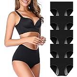 OLIKEME Menstrual Period Underwear for Women Mid Waist Cotton Postpartum Ladies Panties Briefs Girls