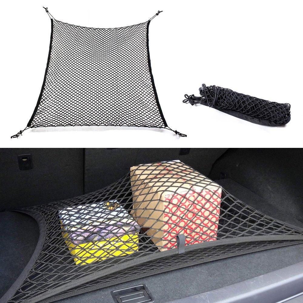 Zhouba 4 ganci auto tronco cargo net mesh organizer auto rete per bagagli Universal car accessories net, Nero , taglia unica