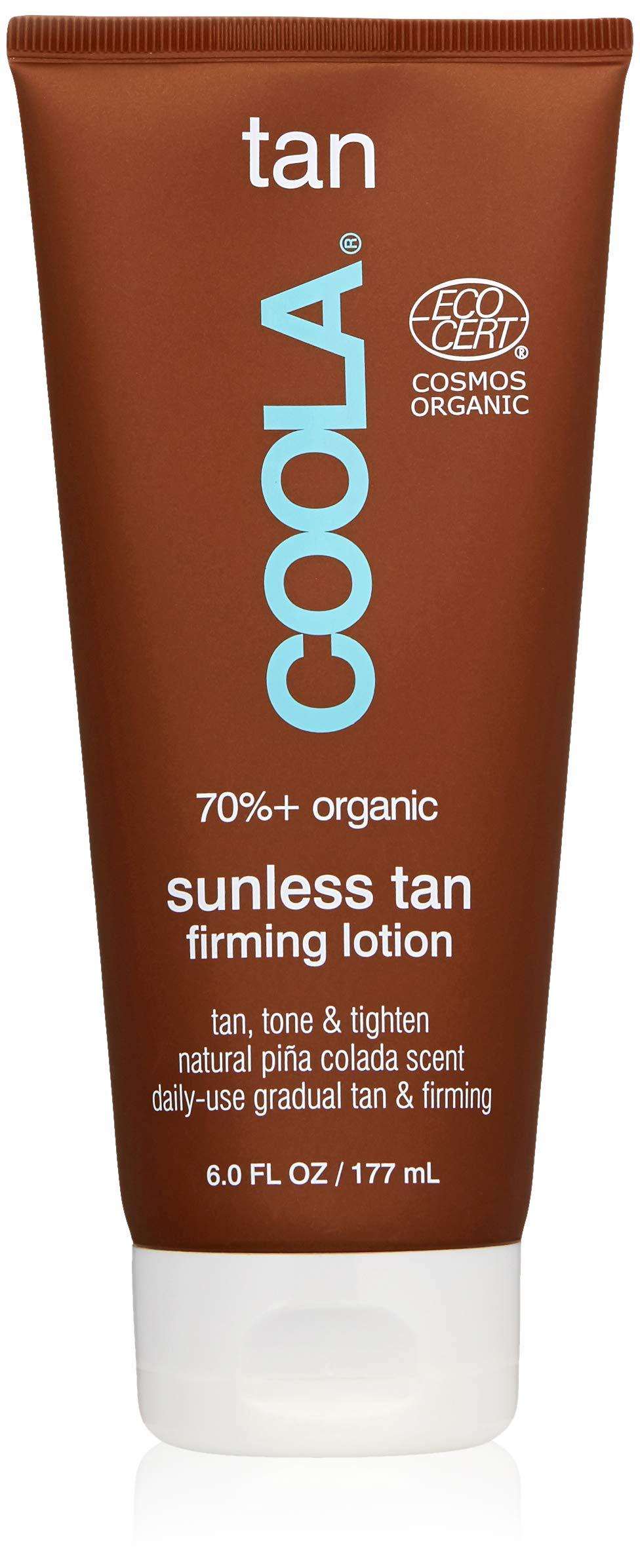 COOLA Organic Sunless Tan Body Lotion   SPF 50   Certified Organic Ingredients   Gradual Tan   Ultra Sheer   Moisturizing   Pina Colada