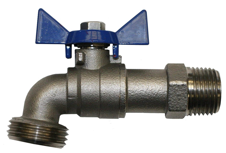 """Merrill MFG SSBD50 1/2"""" Stainless Steel Boiler Drain Valve with Hose Bibb 1/4 Turn, Stainless Steel"""