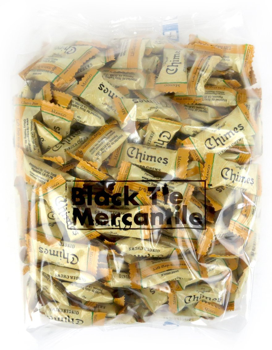 Chimes Mango Ginger Chews, 3 lb Bag in a BlackTie Box by Black Tie Mercantile (Image #2)