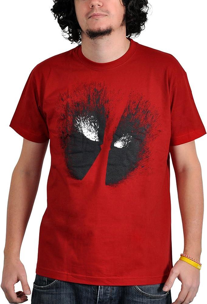 Dead Pool - camiseta de los ojos - para forofos del cómic, algodón, roja - S: Amazon.es: Ropa y accesorios