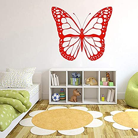 MONARCH BUTTERFLIES wall stickers 17 colorful decals bugs fluttering  insects