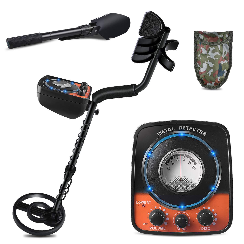 kuman Detector with Headphone Jack, High-Accuracy Metal Finder w, Orange