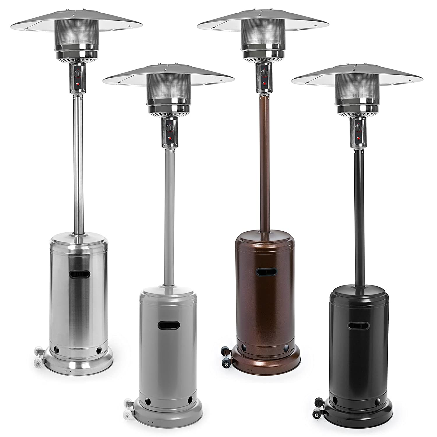 Amazon.com : Thermo Tiki Stainless Steel Floor Standing Propane Patio Heater  With Cover : Portable Outdoor Heating : Garden U0026 Outdoor
