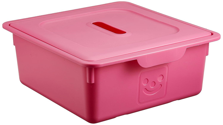 IRIS, 2er-Set Schublade-Box 'Smiley Kids Boxes', KDL-330, Kunststoff, mit Deckel, grau, 33 x 31,5 x 13,5 cm Iris Ohyama 135617