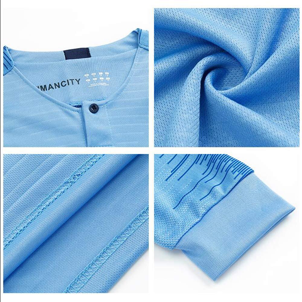 Football Uniforme T-Shirt Ensembles de Sport Surv/êtement de Football Gar/çon YIZHEN Manchester City F.C -De Bruyne 17