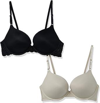 מארז 2 חזיות Maidenform Self Expressions Women's Lace Wing & Tailored Push Up Bra