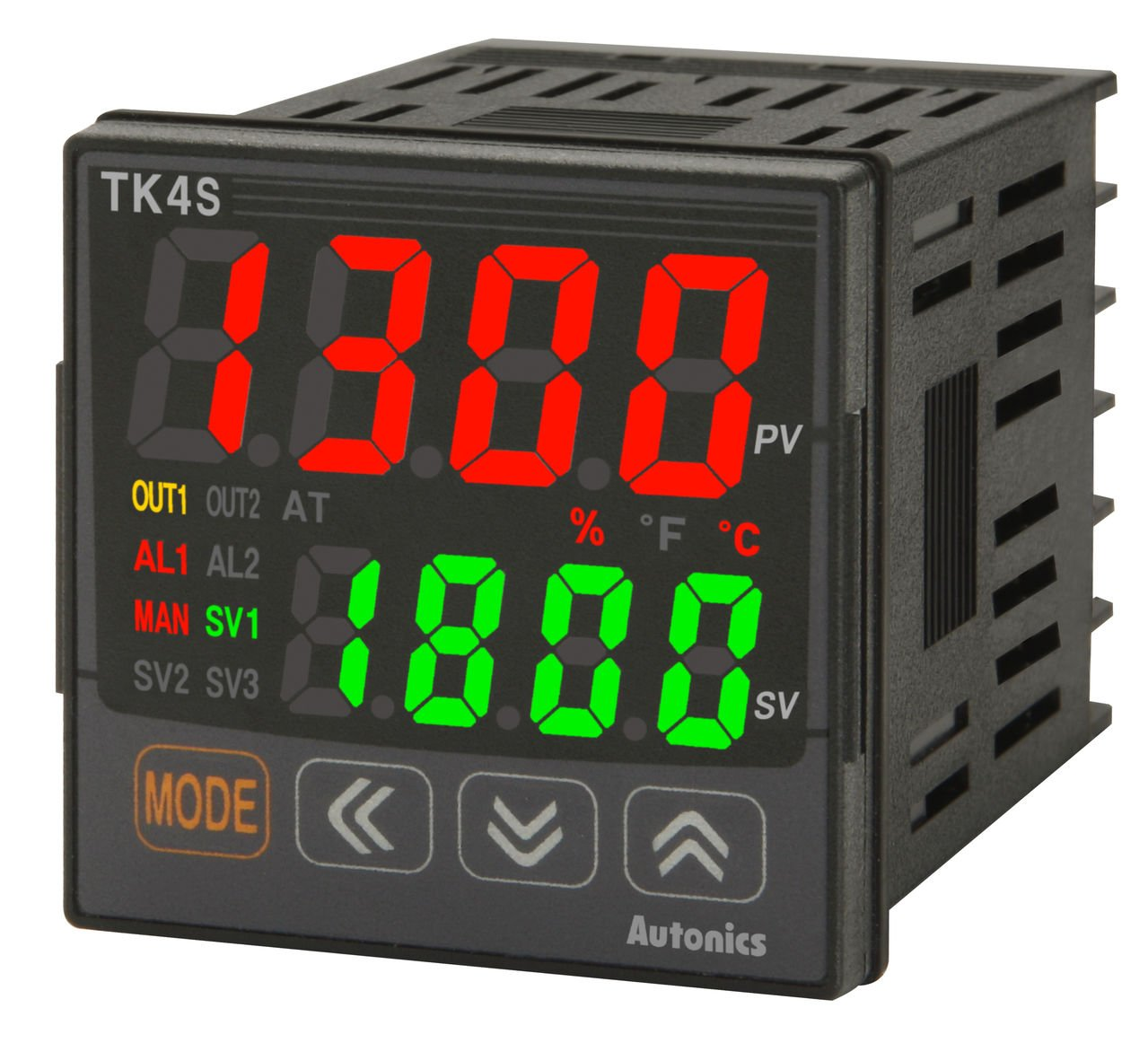 Autonics TK4S-24CN Temp Control, 1/16 DIN, 2 Alarm, Current or SSR Drive Output, 100-240VAC.. by Autonics USA, Inc
